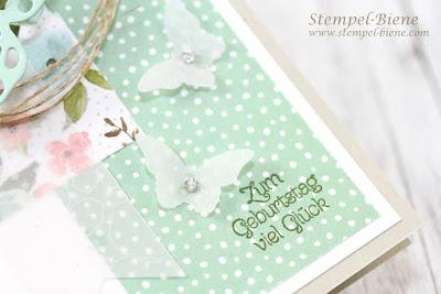 Thintlits Formen Schmetterlinge; Geburtstagskarte Schmetterlinge; Match the Sketch; stampinup; Stempel-Biene; Stampinup Angebote