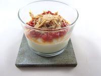 Crema de coliflor, mermelada de tomate a la vainilla  y foie