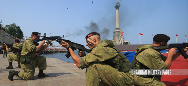 росийские окупанты в Крыму