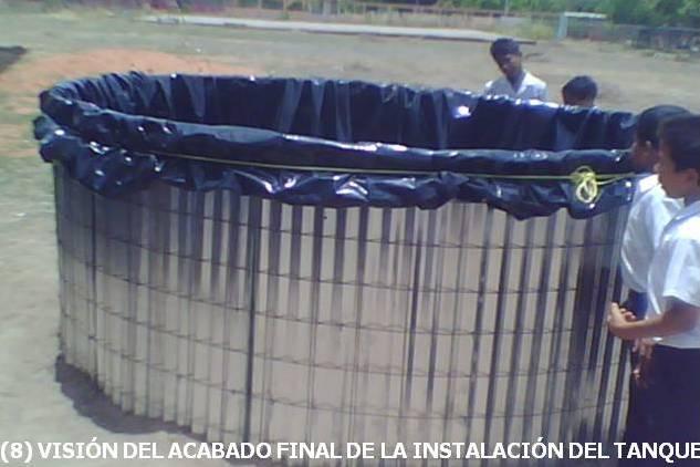 Visi n agroecol gica tanque artesanal zamorano for Como hacer un tanque de agua para rustico