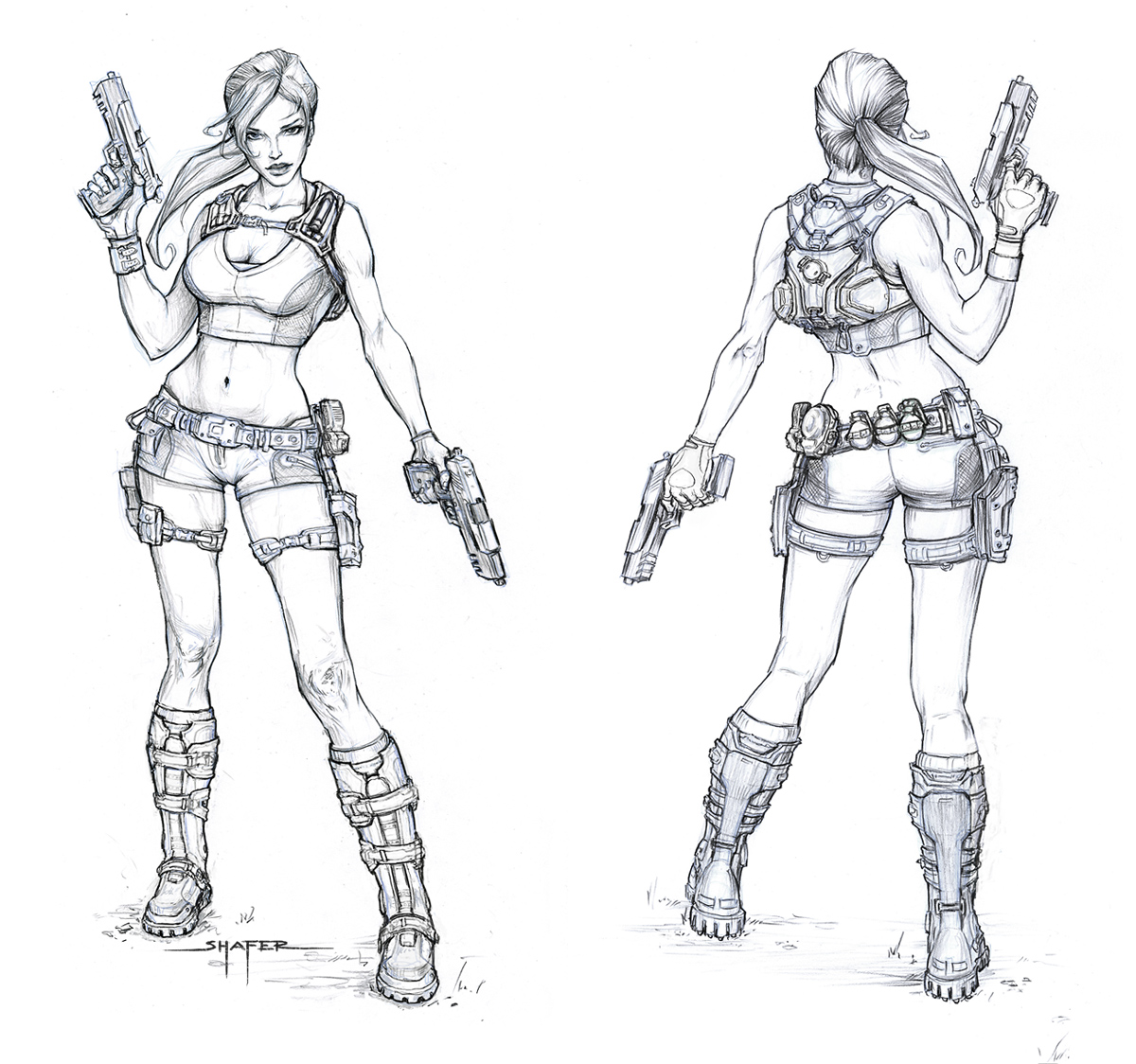Concept Art Art And Lara Croft