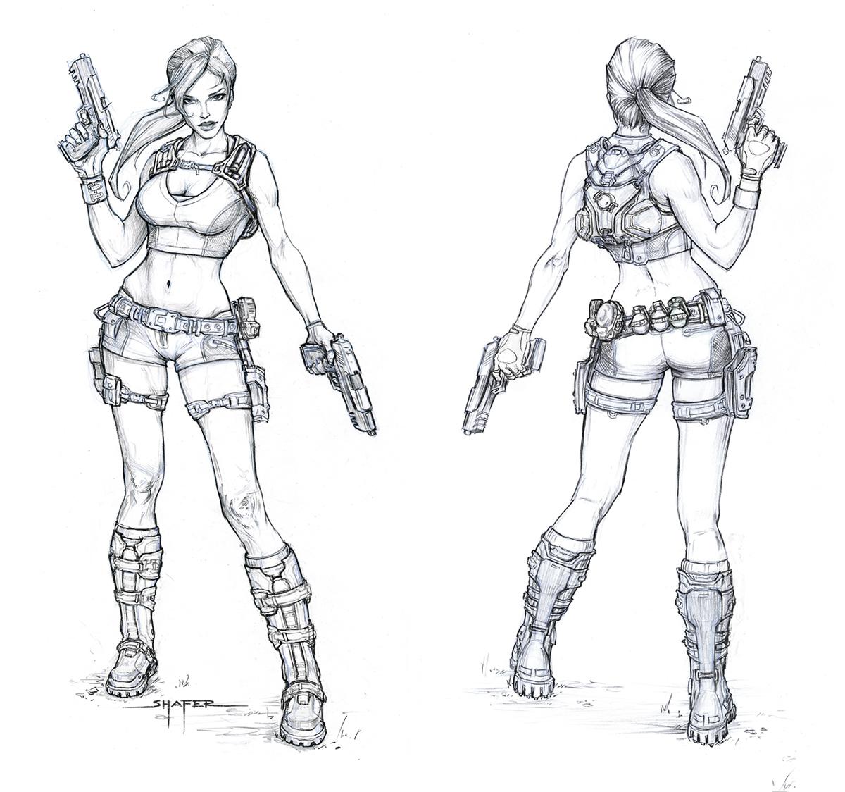 Concept Art Art And Lara Croft