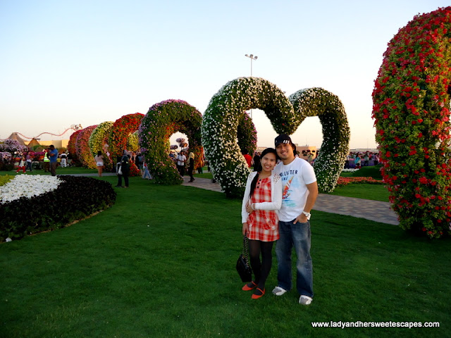 ed and lady in Dubai Miracle Garden