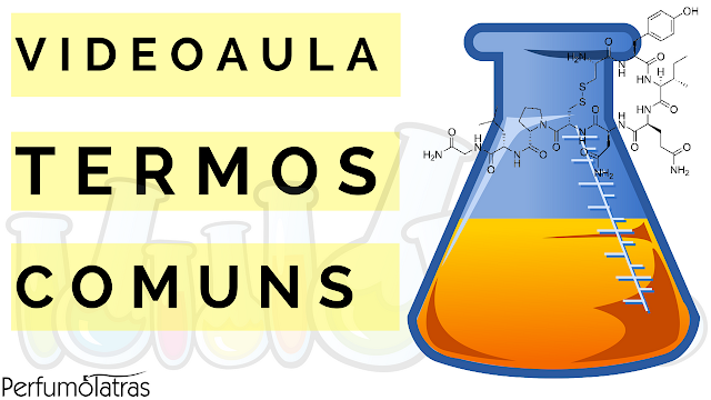 termos comuns perfumaria