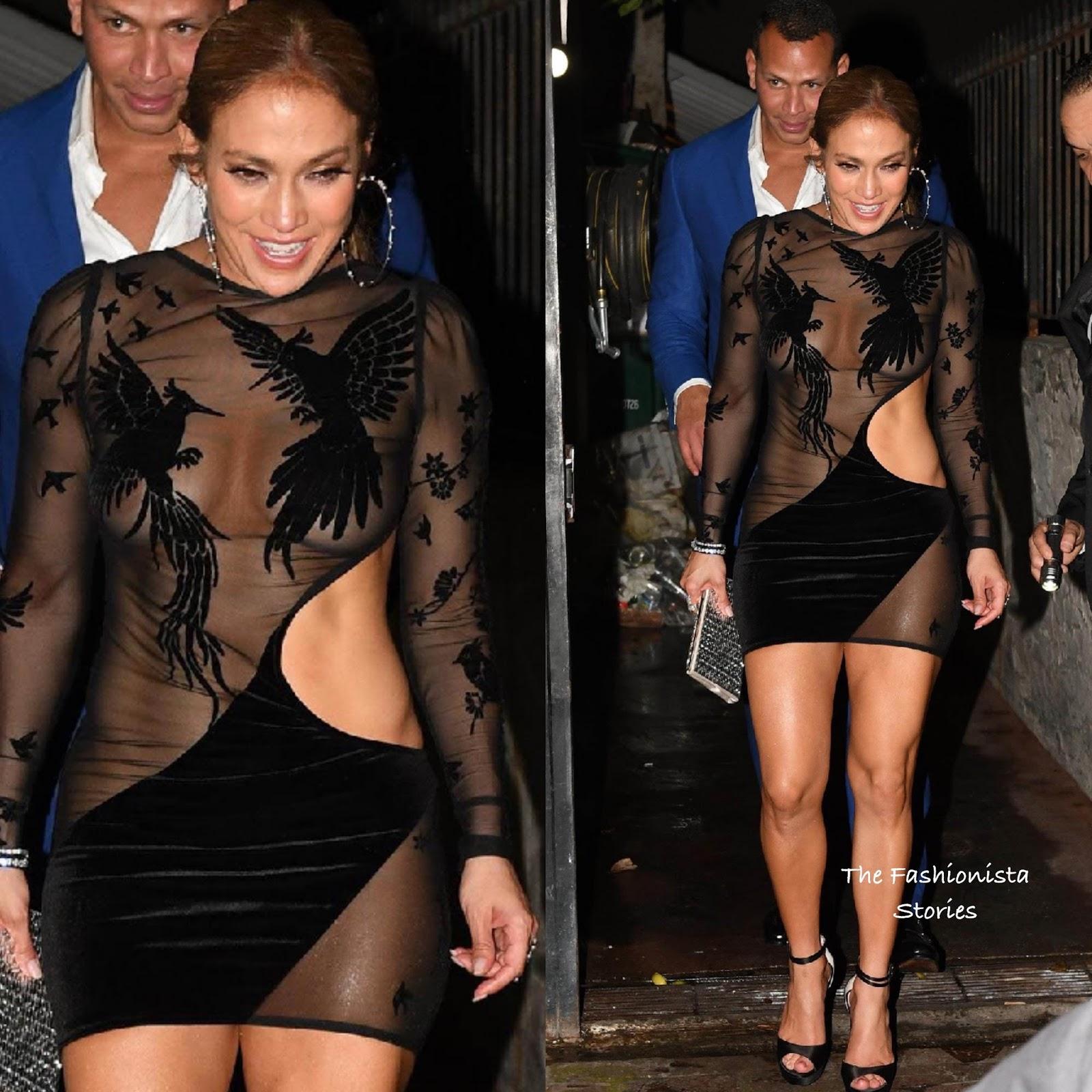 J-lo black dress birthday