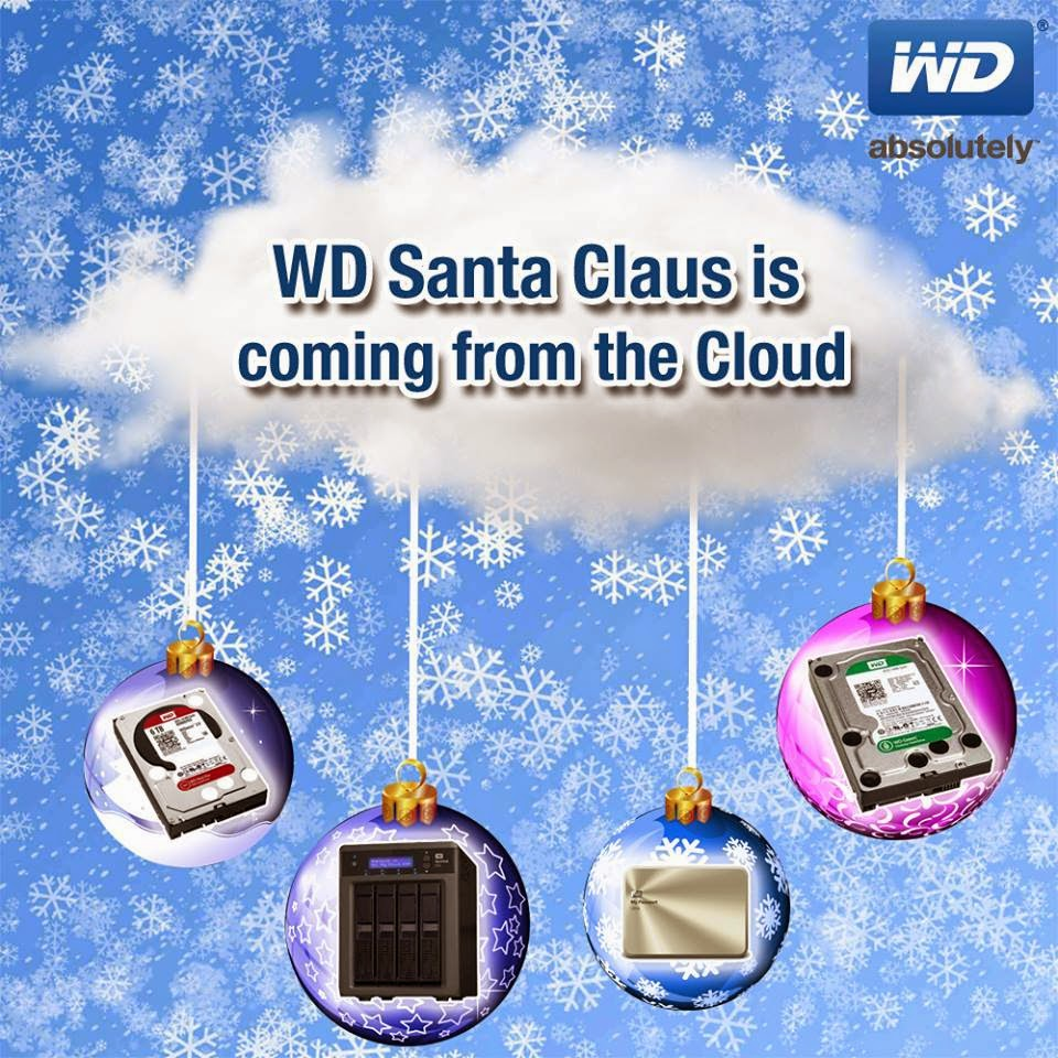 WD Santa Claus is coming from the Cloud