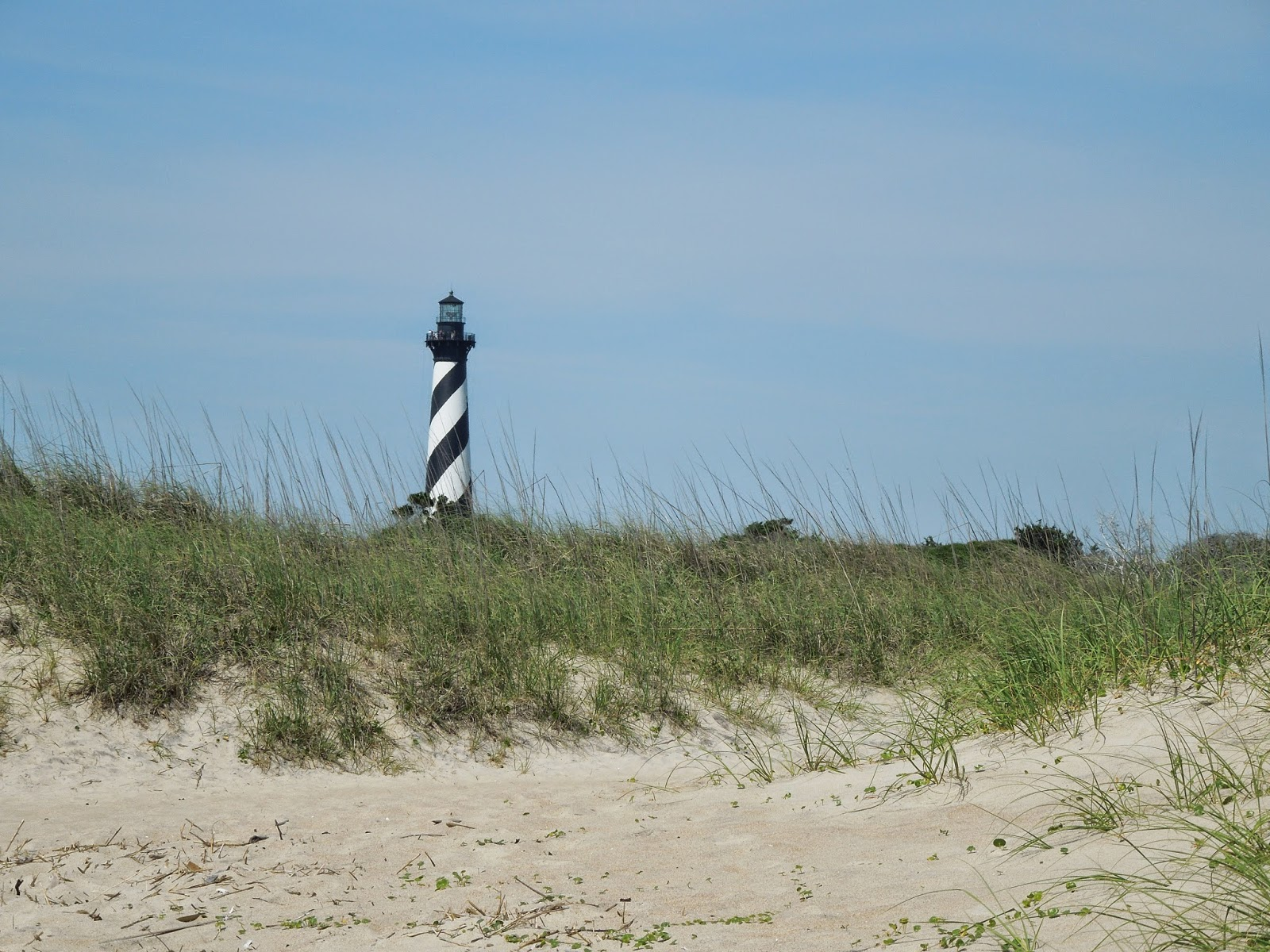 Cape Hatteras Lighthouse from beach