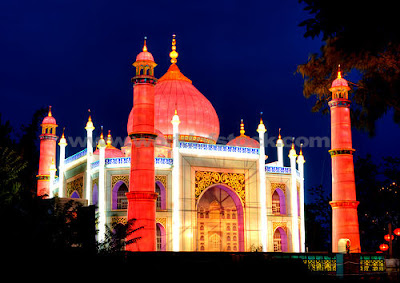 Decorated Taj Mahal at Night