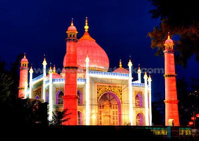 Decorated Taj Mahal at Night