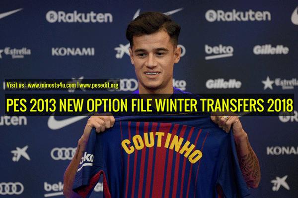 PES 2013 Option File Winter Transfers 09 Jan 2018
