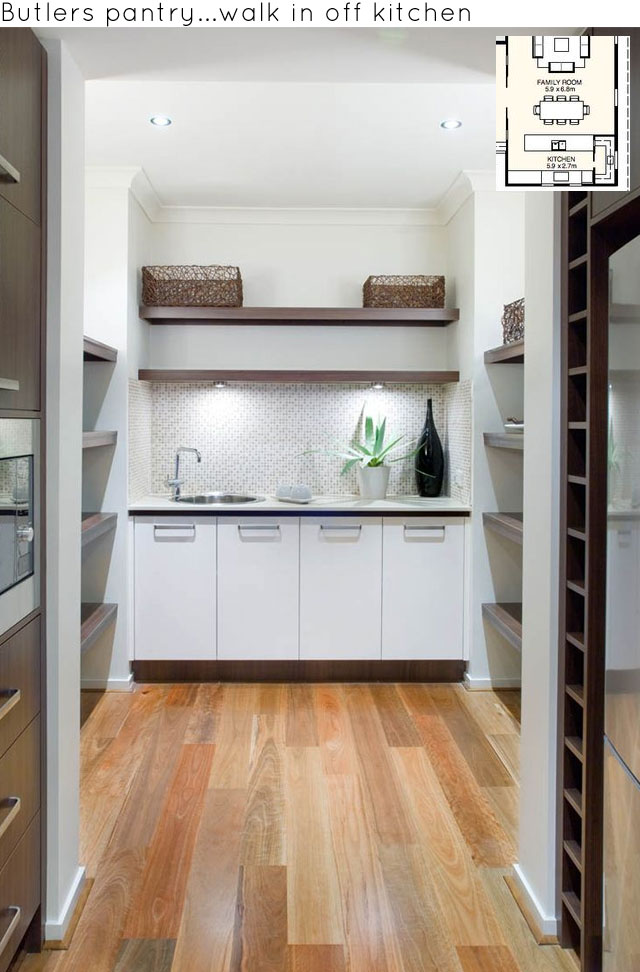 Essentially The Pantry Space Extends Off The Kitchen, Either Into An  Expanded Walk In Cupboard Space, Or Into A Separate Room. It All Depends On  The Space ...