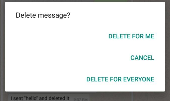 Fitur Hapus Pesan pada Aplikasi WhatsApp
