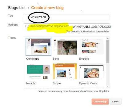 blogger par blog kaise banaye