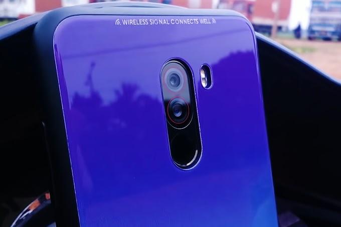 Glass back Pocophone F1 with color Gradient - Premium Poco F1 Glass Case