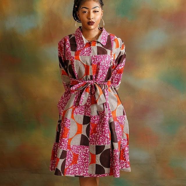 Inspirational Hot Ankara Shirt dresses you should see