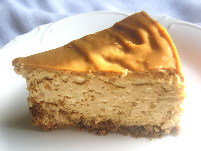 Sliced Peanut Butter Cheesecake