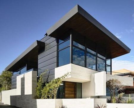 fasad rumah minimalis desain unik teras rumah