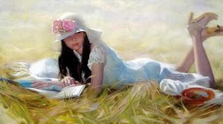 arte-encantador-mujeres-en-jardines chicas-pintadas-oleo