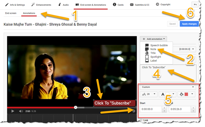 Annotations In Youtube