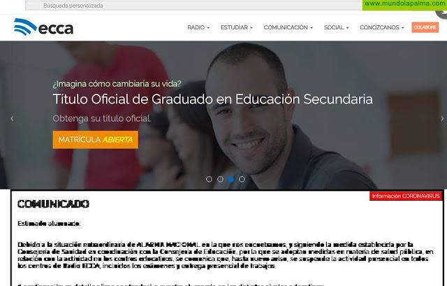 ECCA pone al servicio de la sociedad parte de su oferta formativa de forma gratuita