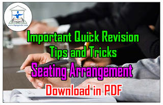 Important Quick Revision Tips and Tricks on Seating Arrangement – Download in PDF