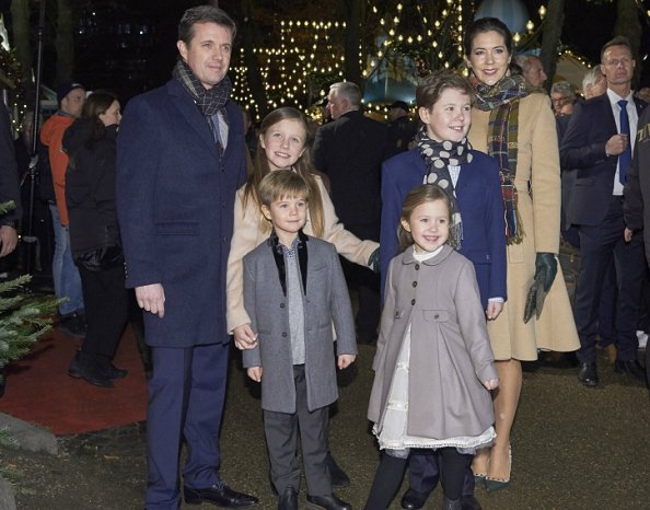 Princess Josephine wore MARIE-CHANTAL Girls Grey Coat, Princess Isabella wore BONPOINT Beige Coat