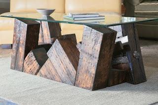 mesas de café recicladas
