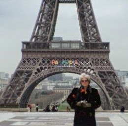 jaguarjulie standing by The Eiffel Tower