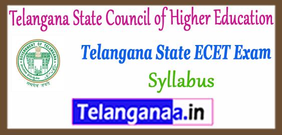 TS Telangana State ECET Syllabus 2018 Time Table