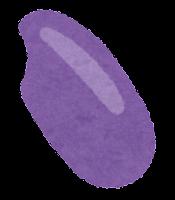 五色米のイラスト(紫)