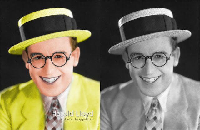 Harold Lloyd in colour