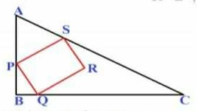 PQRS is a square inside an isosceles right angled triangle ABC , such that points P, Q and S lie on the sides AB, BC and AC, respectively. If BQ = 8cm, PB = 4cm and PR not parallel to BC, what is the area of the triangle outside the square?  PQRS एक वर्ग है जो समदविबाह समकोण त्रिभुज के अंदर बनाया गया है । जहाँ P, Q और S क्रमशः भुजा AB, BC और AC पर है । यदि BQ = 8cm, PB = 4cm और PR, BC के समांतर नही है तब वर्ग के बाहर त्रिभुज के भाग का क्षेत्रफल ज्ञात करे। 1 ) 48cm b ) 96 cm c ) 144cm d ) 64cm