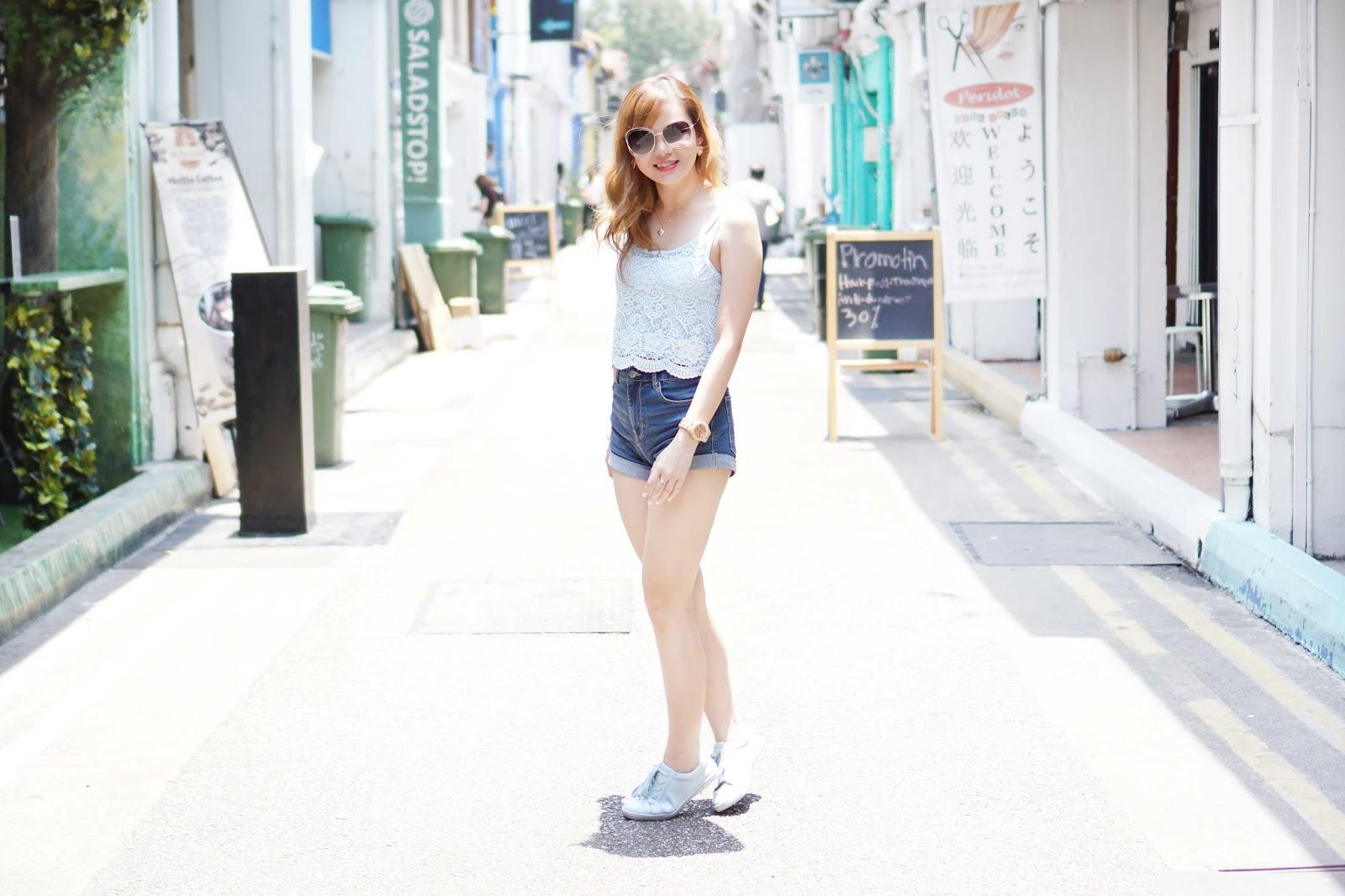 Ootd Casual Summer At Haji Lane Singapore Travel With Jean Milka Jean Milka