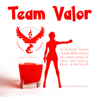 Pokemon Go Team Valor Cocktail