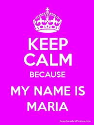 Keep Calm Maria