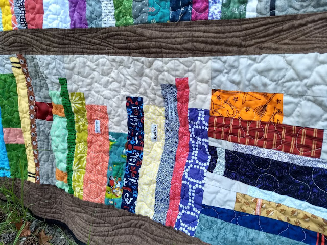 The Quilt Finished At About 55 X 72 And Chaplains Will Place It With Perfect Book Worm