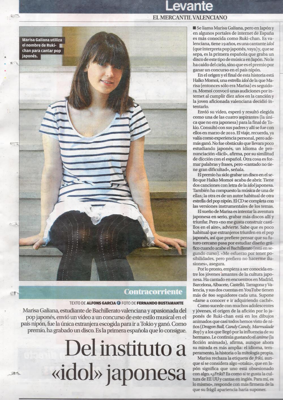 ruki ruki in spanish newspaper