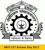 MHT CET Answer Key 2017