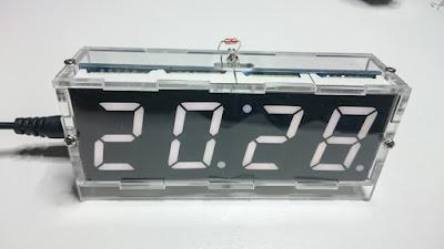 OH2DD DIY hamsack radioamatööri kello 24h aikanäyttö