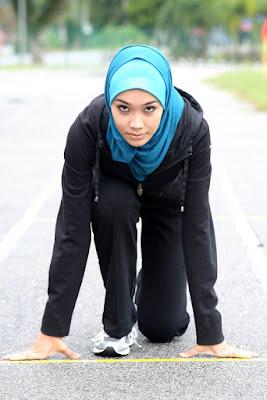baju hijab untuk gym celana longgar