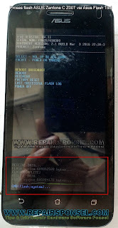 Cara Flash ASUS Zenfone C Z007 Tested 100% Sukses