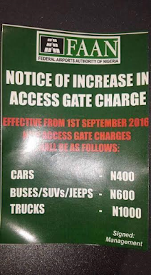 Photo: Federal Airports Authority of Nigeria increases access gate charge