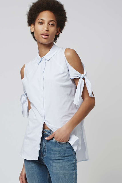 open shoulder shirt,