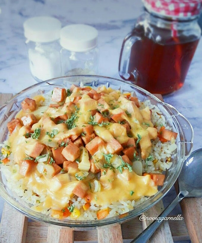 Resep Membuat Butter rice with Chicken Luncheon