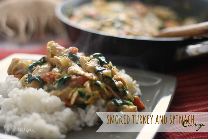 Smoked Turkey and Spinach Curry inspired by Bridget Jones's Diary | #FoodnFlix