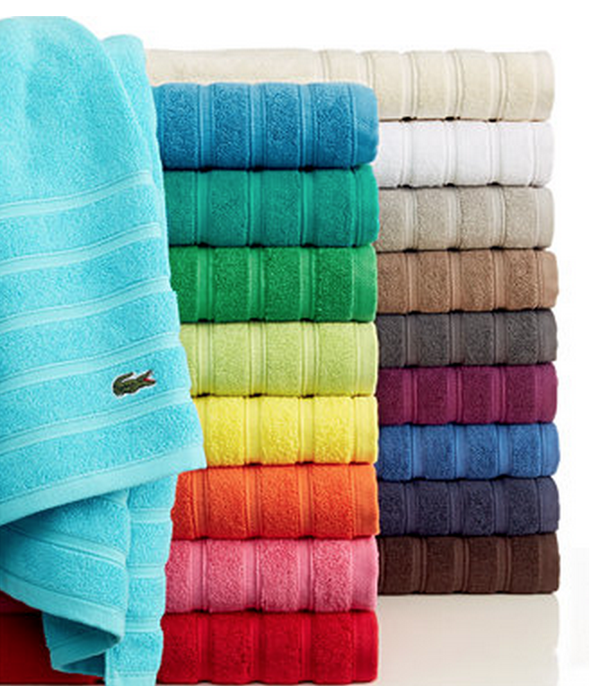 31e8563c4d My Superficial Endeavors  Lacoste Makes Awesome Bath Towels!!