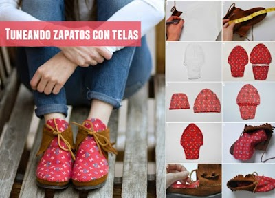 Tunear zapatos con tela tutorial