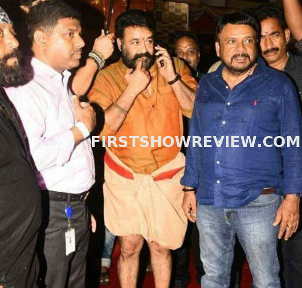 Mohanlal in a stylish look at stunt union's event
