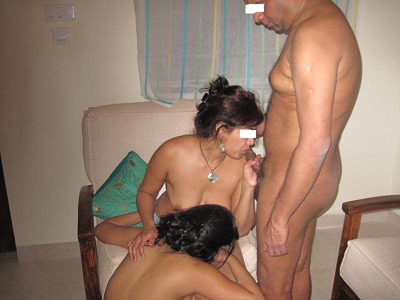 Indian Couple Threesome