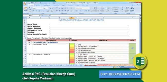 Aplikasi PKG (Penilaian Kinerja Guru) oleh Kepala Madrasah